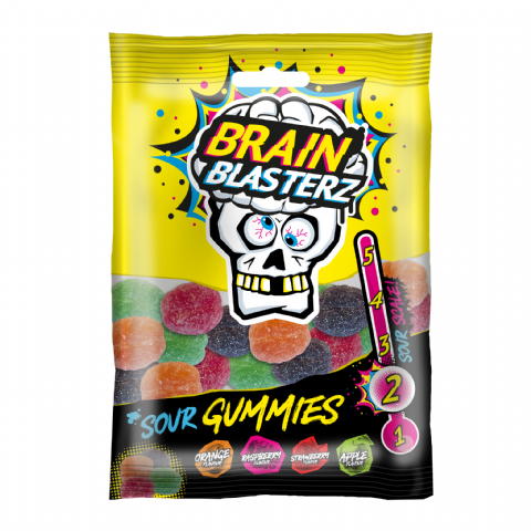 Sour Gummies Brain Blasterz - Candy Sweets Bon Bon Buddies 100g